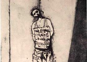 伦佐•韦斯皮尼亚尼《受绞刑的男子》绘画作品欣赏