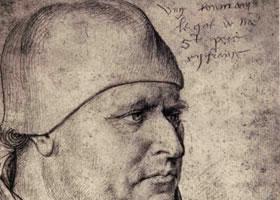 让•富盖《教皇使节的肖像》素描绘画作品欣赏