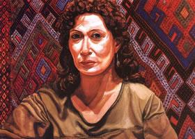 帕尔斯坦《壁毯前的女人》水彩画赏析