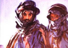 沙金特《阿拉伯人》水彩画赏析