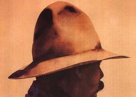 威廉姆•麦松《带领巾的牛仔》水彩画赏析