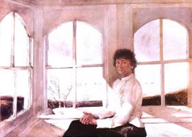 安德鲁•怀斯《充满阳光的木屋》人物水彩画赏析