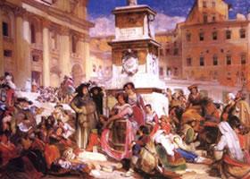 刘易斯《罗马的复活节》 人物水彩画赏析