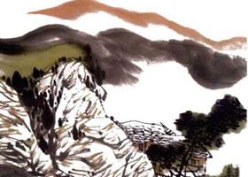 写意山水画《幽居图》画法步骤