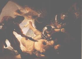 伦勃朗《参孙失明》油画欣赏