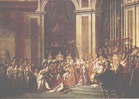路易•大卫《拿破仑加冕式》油画欣赏