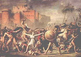 路易•大卫《劫夺萨宾妇女》油画欣赏