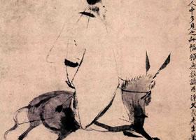 明代徐渭《驴背吟诗图》轴欣赏