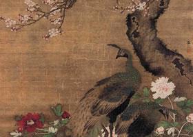 明代吕纪《杏花孔雀图》轴欣赏
