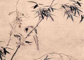 明代吕纪《竹禽图》轴欣赏