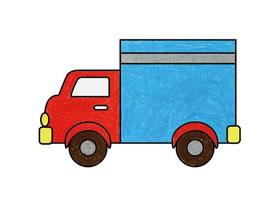 卡车简笔画(一)