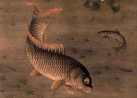 明代缪辅《鱼藻图》轴欣赏