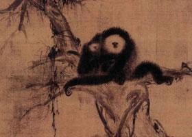 南宋僧法常《松猿图》古画赏析