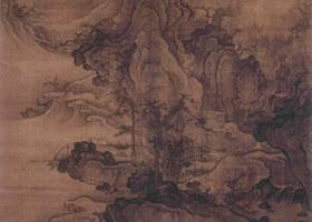 北宋郭熙《秋山行旅图轴》欣赏