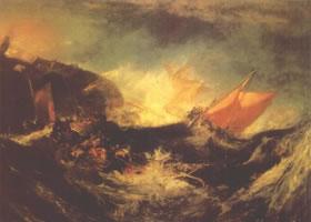 英国透纳《遇难船》油画赏析