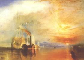 透纳《战舰特米雷勒号的最后一次归航》油画赏析