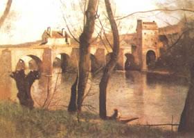 法国柯罗《芝特的桥》名画赏析