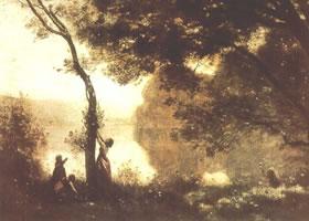 法国柯罗《孟特芳丹的回忆》油画赏析