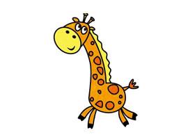 长颈鹿简笔画(一)