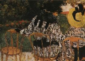法国维亚尔《在香榭丽舍》蛋彩画欣赏