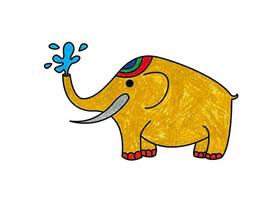 大象简笔画(二)