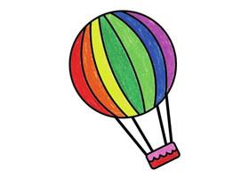 热气球简笔画