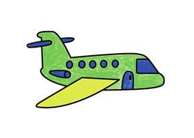 飞机简笔画