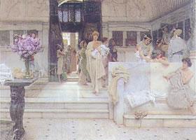 阿尔玛•塔迪马《美妙的嗜好》油画赏析