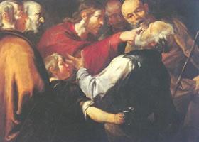 乔其诺•阿塞雷托《基督使盲者复明》油画赏析