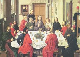 迪尔克•鲍茨《最后的晚餐》蛋彩油画赏析