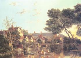 约翰•克罗米《下午的诺里奇河》油画赏析