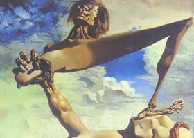 萨尔瓦多•达利《内战前兆》油画赏析
