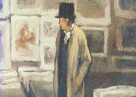 奥诺雷•杜米埃《印刷品收集者》油画赏析