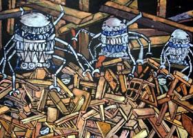 科幻画《地震搜救机》欣赏