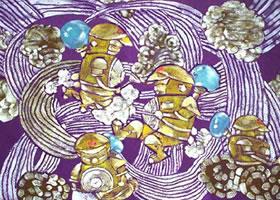 科幻画《纳米除菌机器人》欣赏