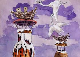 《烟囱、鸟巢》科幻画欣赏