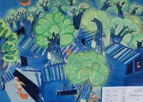 《城市夜光树》科幻画欣赏