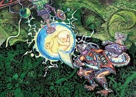 《孕育新生命》科幻画欣赏