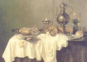 威廉•克拉斯•黑达《有螃蟹的早餐》油画赏析