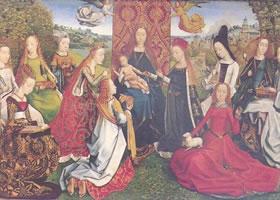 圣•露西传奇的大师《在女圣徒中的圣母》油画赏析