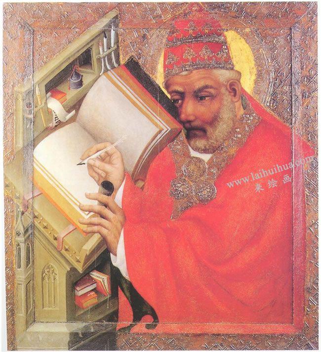 马斯特•西奥多里克《圣格雷戈里》蛋彩油画高清大图