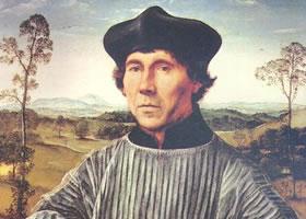 康坦•马苏斯《教士的肖像》油画赏析