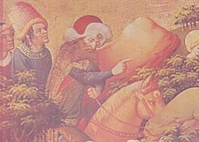 马斯特•弗兰克《圣芭芭的祭坛》蛋彩油画赏析