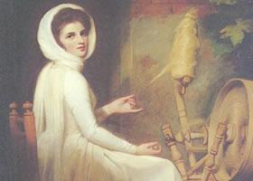 乔治•罗姆尼《汉密尔顿夫人肖像画》油画赏析