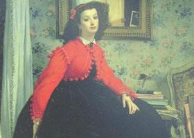 詹姆斯•提索特《妇人肖像》油画赏析