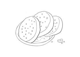 芝麻饼简笔画