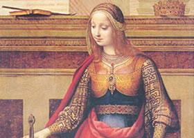 弗尔南多•雅内兹《圣•凯瑟琳》油画赏析