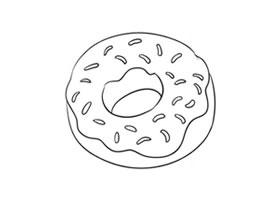 甜甜圈简笔画