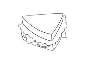 三明治简笔画(二)