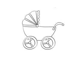 婴儿车简笔画